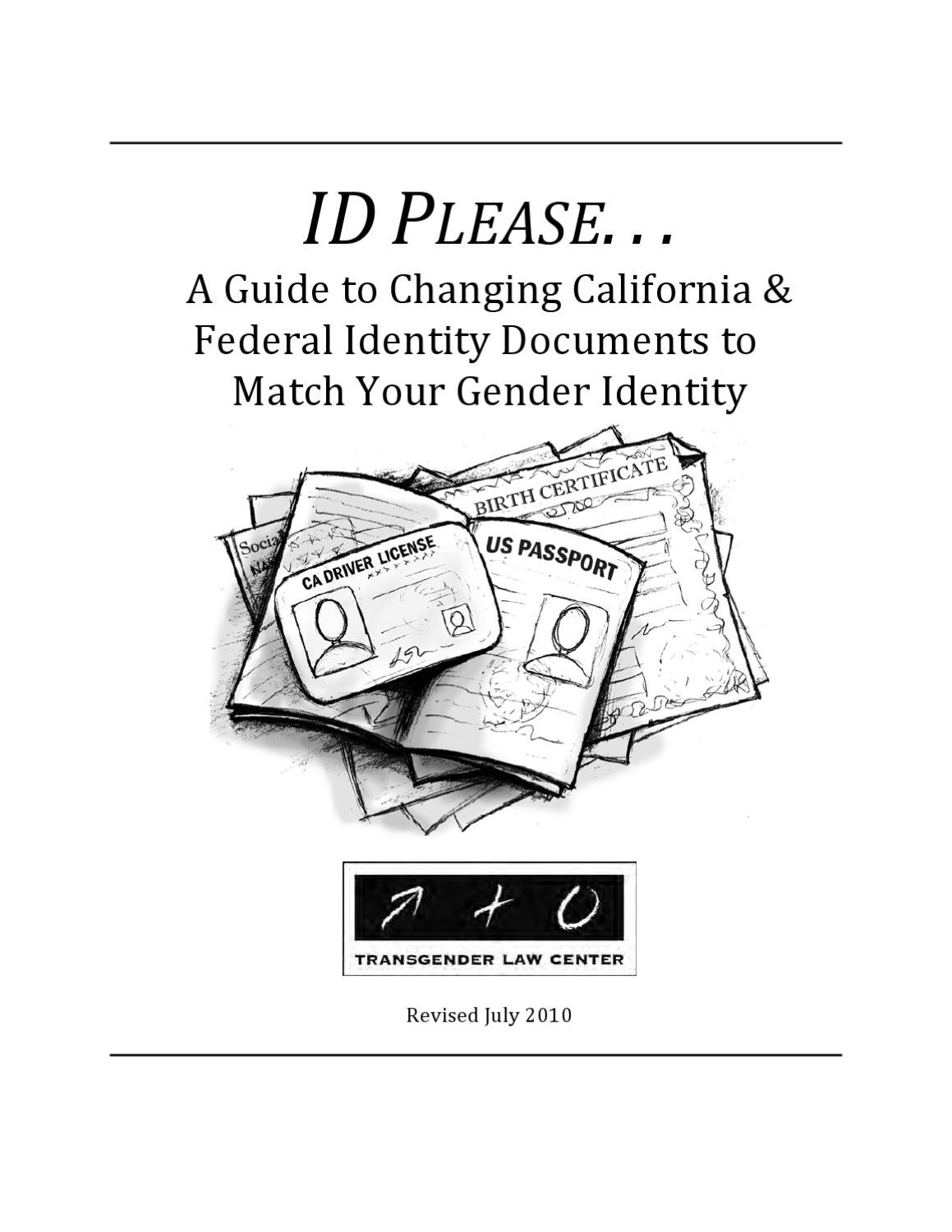 ID Please: A Guide to Changing California and Federal IDs to