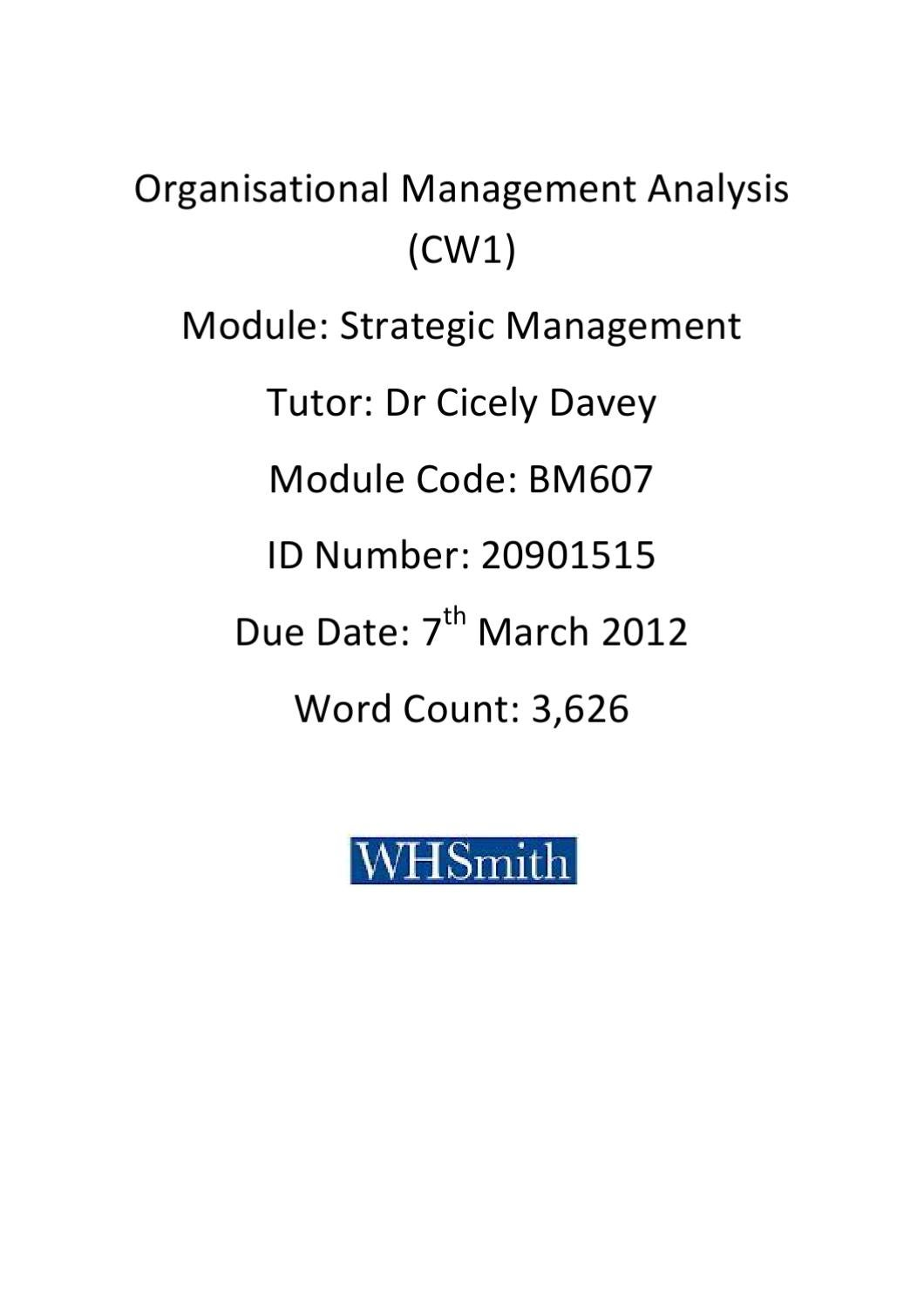 pest analysis for whsmith Free pest analysis papers, essays, and research papers.