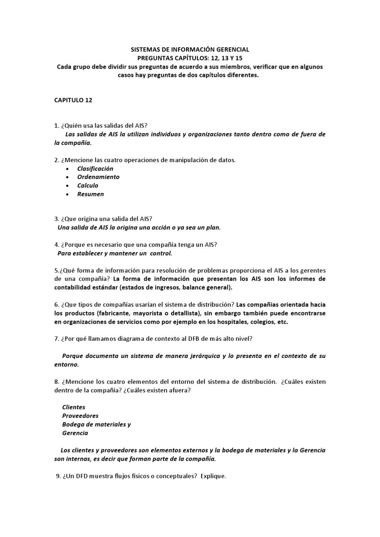 Preguntas y respuestas cap. 12, 13 y 15 by Eddy Aquino - issuu