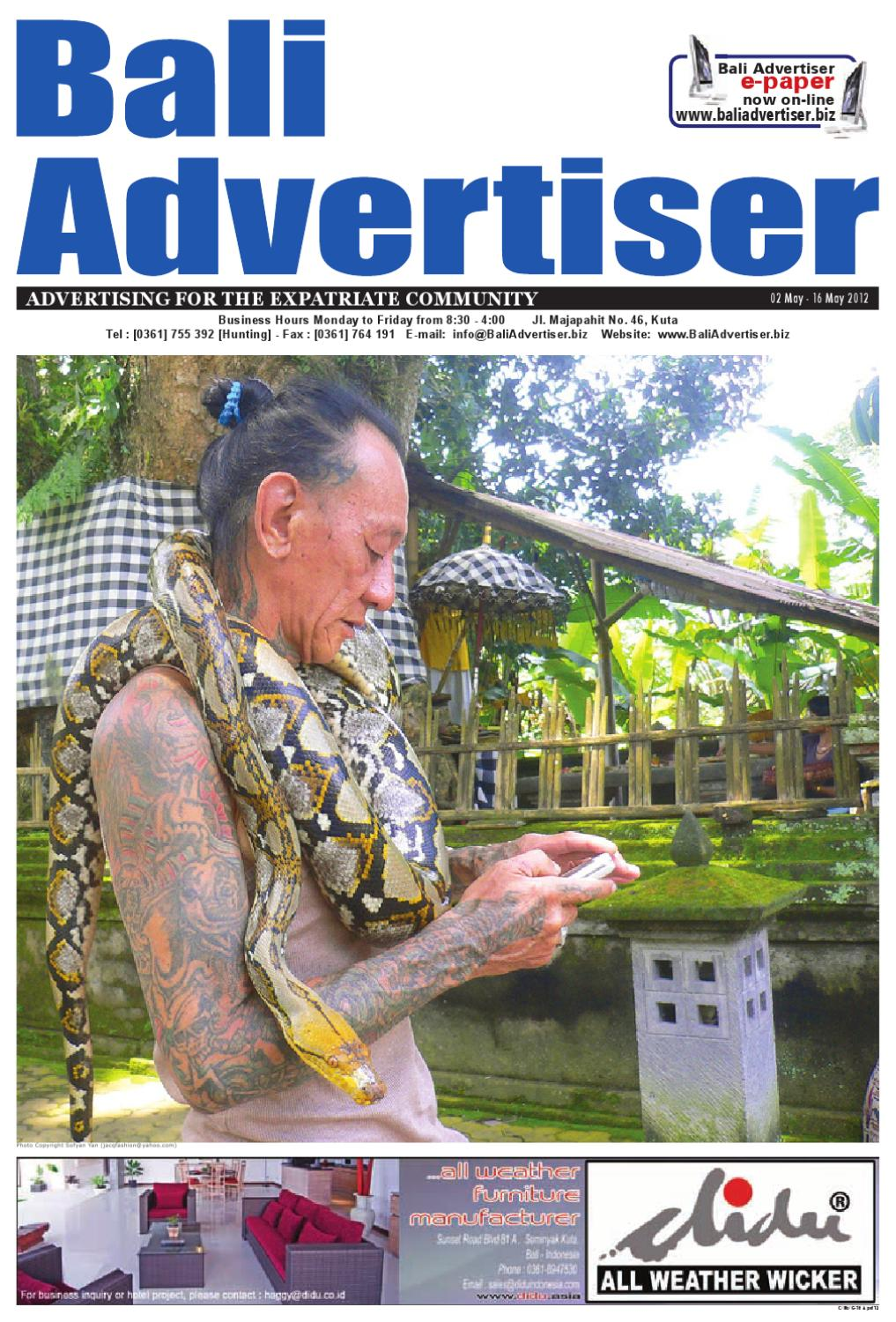 Ba 02 May 2012 By Bali Advertiser Issuu Batik Wanita Coklat Bc 40 Nby