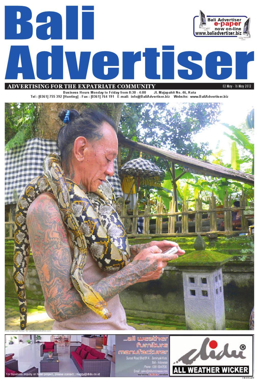 Ba 02 May 2012 By Bali Advertiser Issuu Patung Buddha Happy Natural Sandstone Brazil 7945