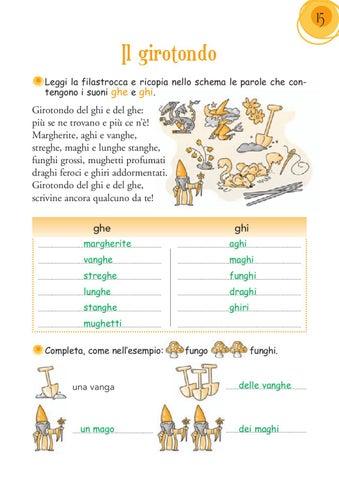 Italiano 1 by elvira ussia issuu for Parole con ge gi ghe ghi