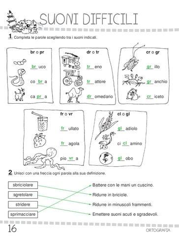 Ok ita 3 by elvira ussia issuu for Suoni difficili schede didattiche