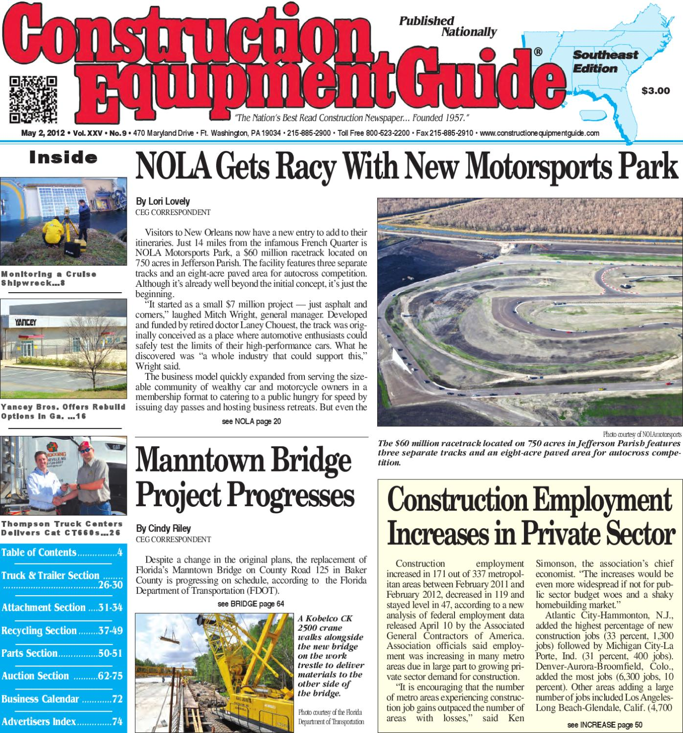 Southeast #9, 2012 by Construction Equipment Guide - issuu
