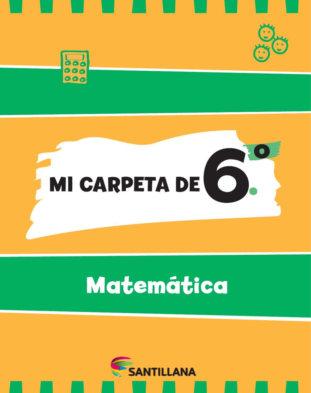 Mi carpeta de 6º - Matemática by María Candelaria Pagella - issuu