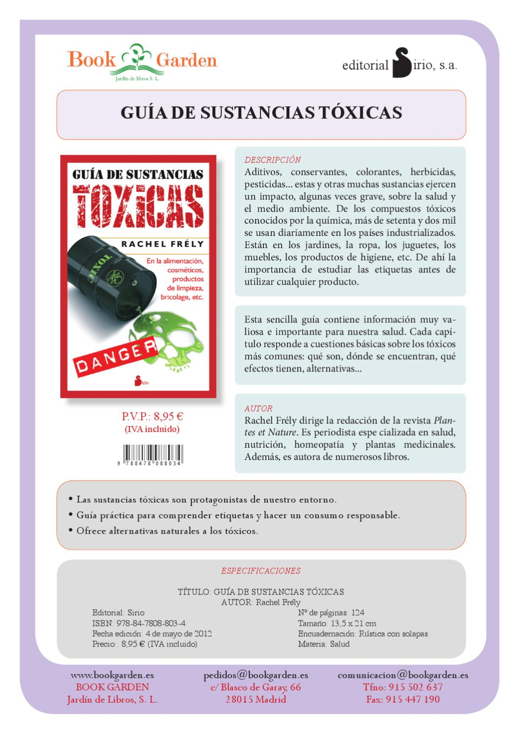 Guia De Ssutancias Toxicas By Bookgarden Distribucion Editorial  # Muebles No Toxicos