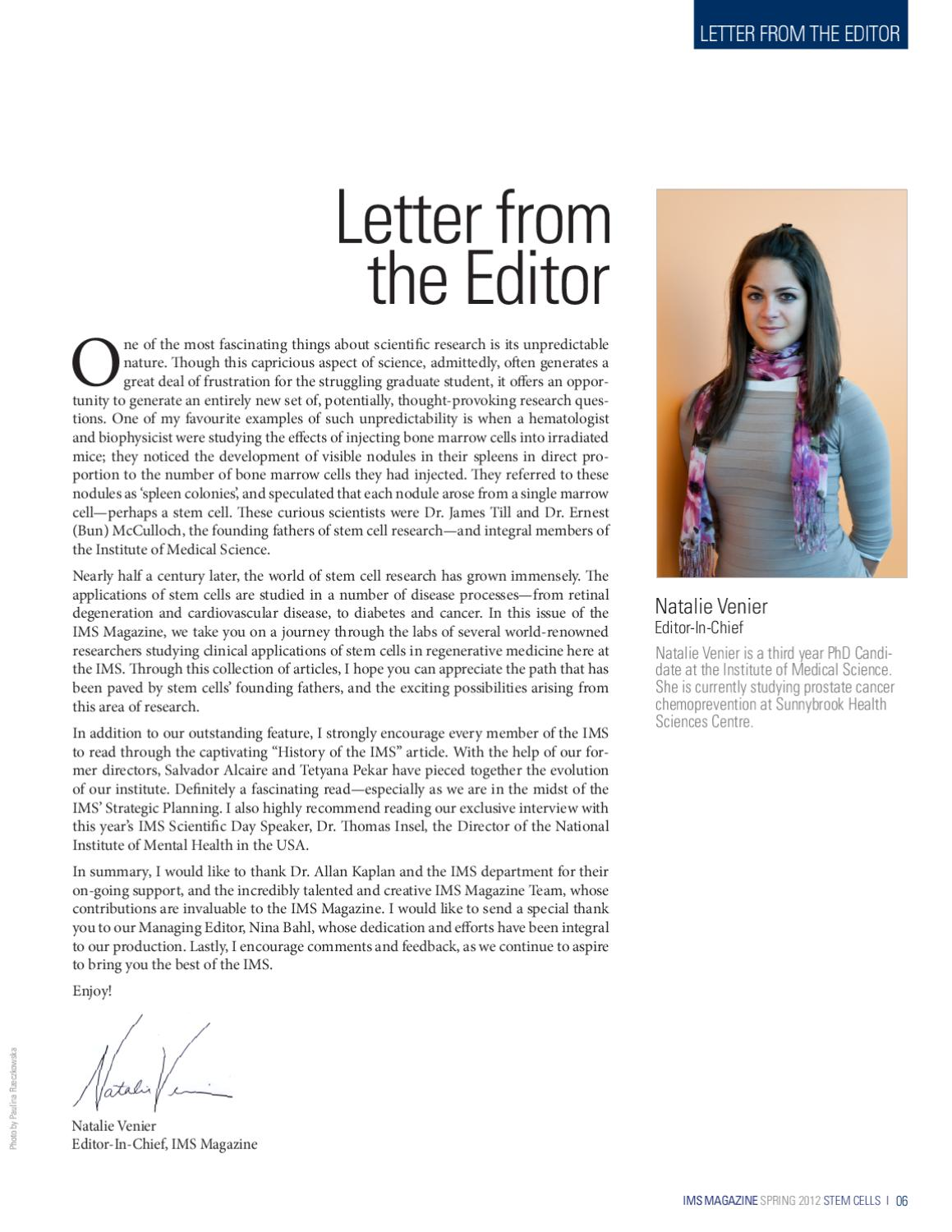 How To Write A Letter From The Editor Magazine