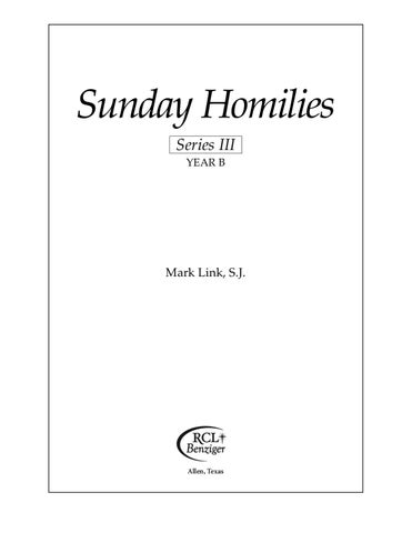 Sunday homilies year b series iii by sombat ngamvong issuu page 1 fandeluxe Images