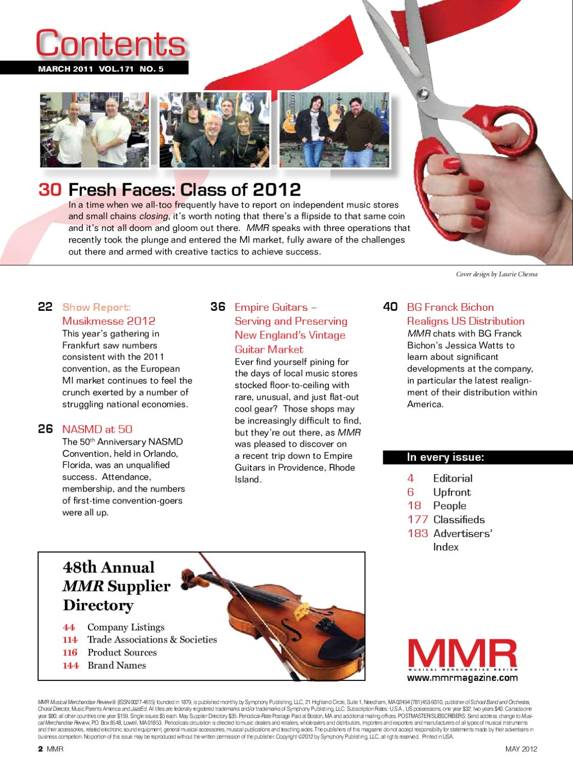 MMR May Issue by MMR - Musical Merchandise Review - issuu