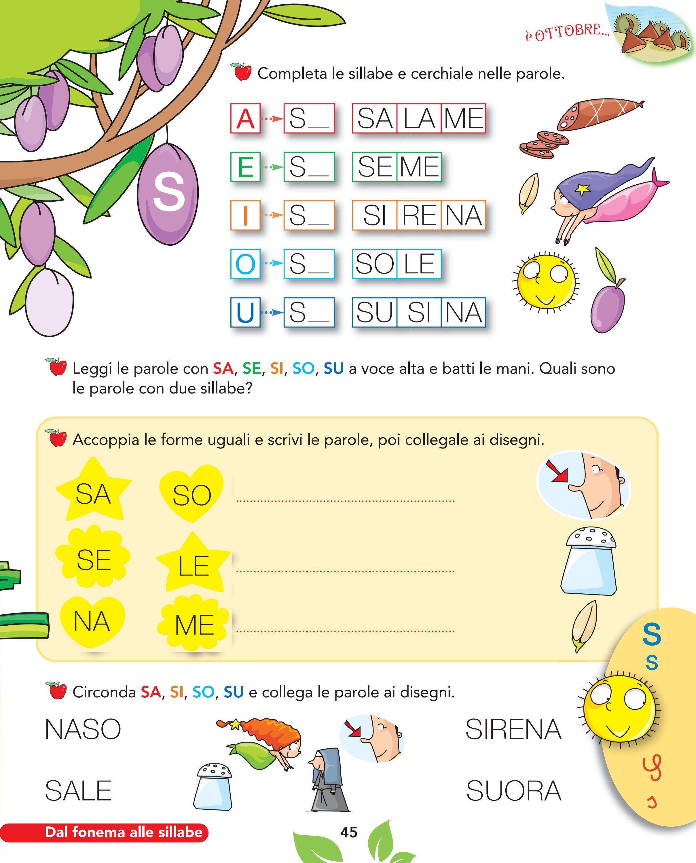 Olmo 1a metodo by elvira ussia issuu for Parole con mp per bambini