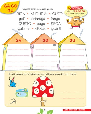 Olmo 1a metodo by elvira ussia issuu for Parole con ga go gu