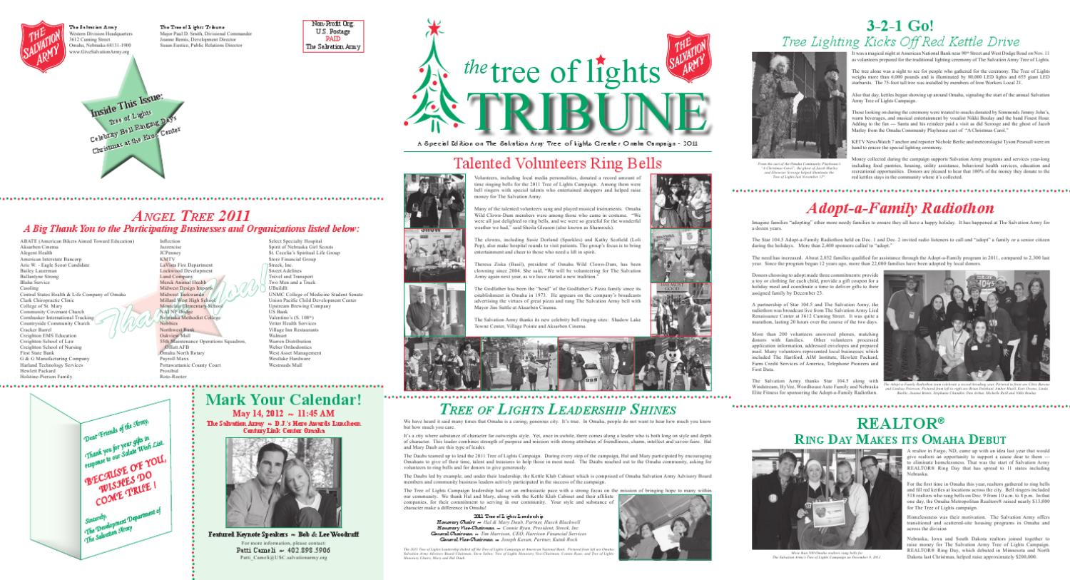 2011 Tol Tribune Newsletter By The Salvation Army Western