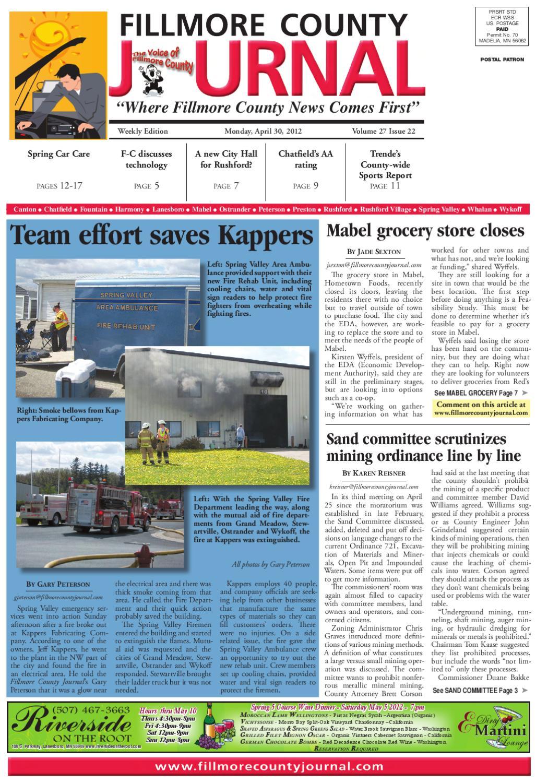Fillmore County Journal 4.30.12 by Jason Sethre - issuu