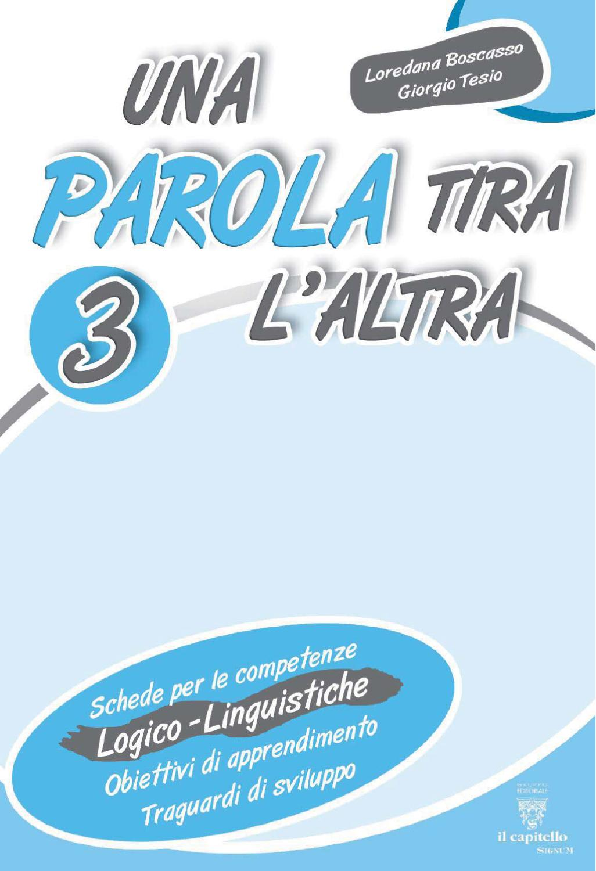 Una parola tira laltra 3 by elvira ussia issuu for Filastrocca sci sce