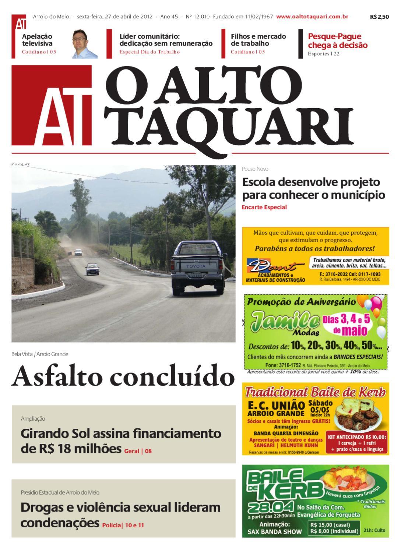 894bff3563768 Jornal O Alto Taquari - 27 de abril de 2012 by Jornal O Alto Taquari - issuu