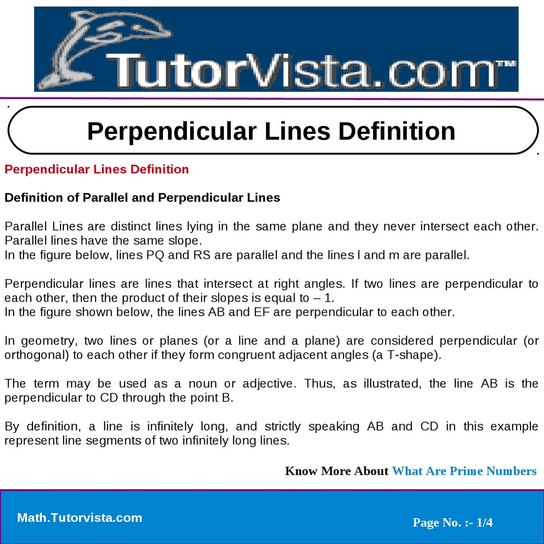 perpendicular lines definition by tutorvista team issuu
