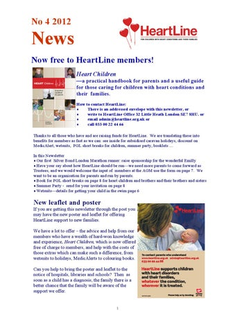 Heartline Newsletter March/April 2012
