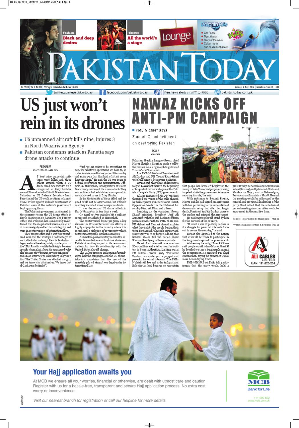 e-paper pakistantoday 06th may, 2012 by Pakistan Today - issuu