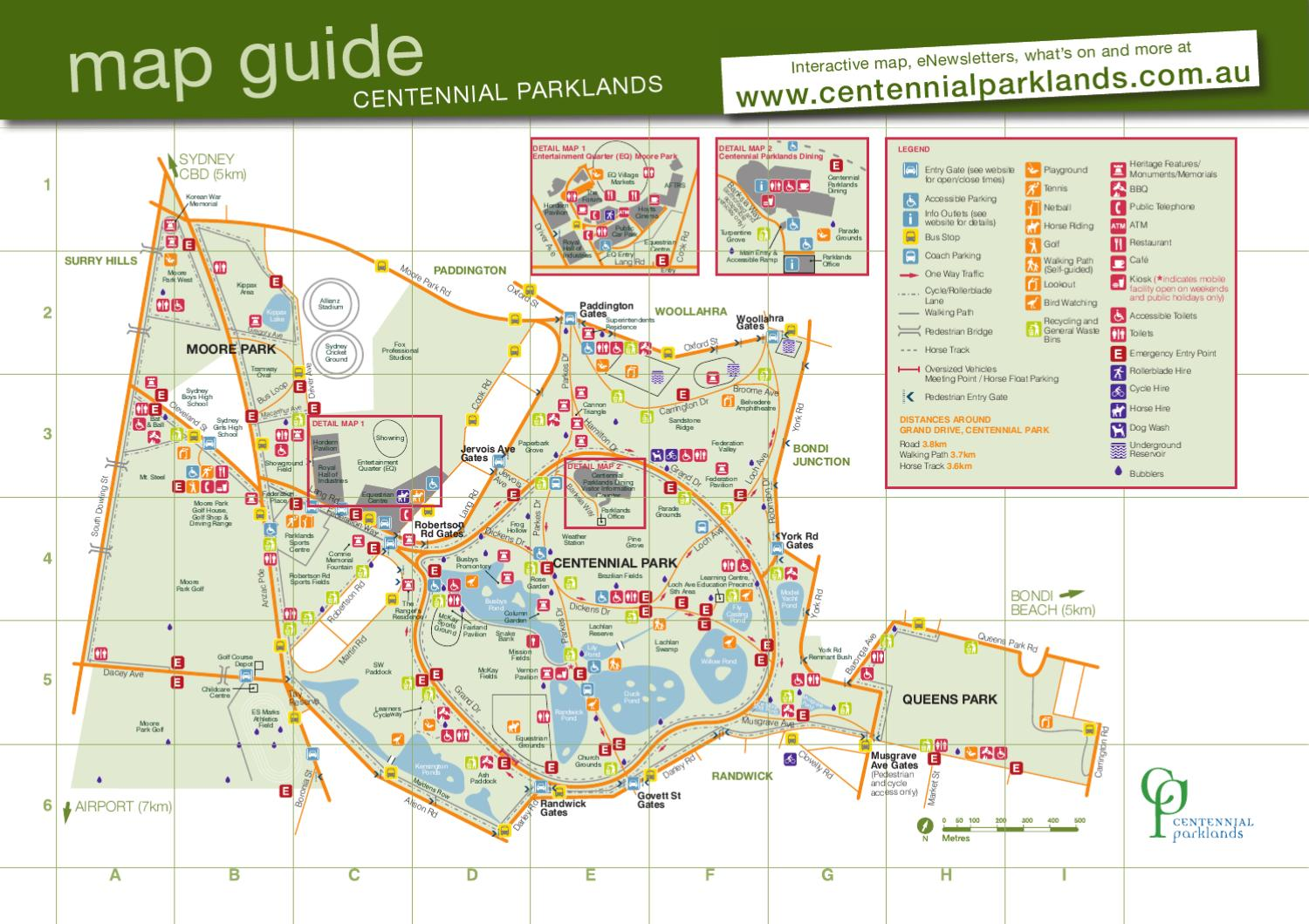 Centennial Parklands Map 2012 By Rachel Maiden Issuu