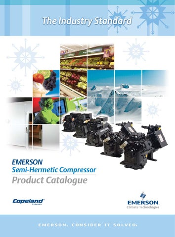page 1  the industry standard  emerson semi-hermetic compressor