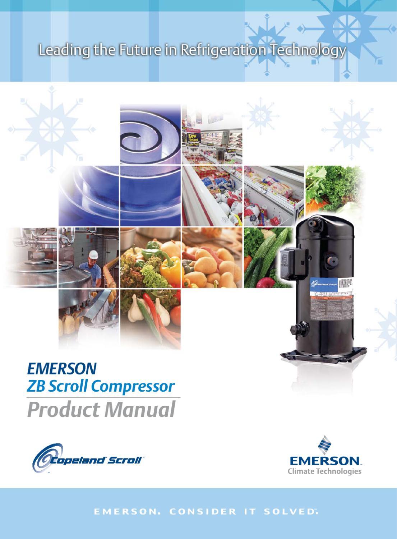 5 Copeland Scroll ZB Compressor - Product Manual - Sep, 2009
