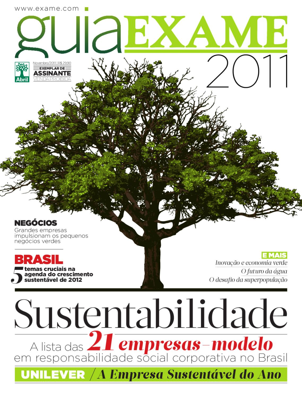 8fc8216f65e Guia EXAME de Sustentabilidade 2011 by Revista EXAME - issuu