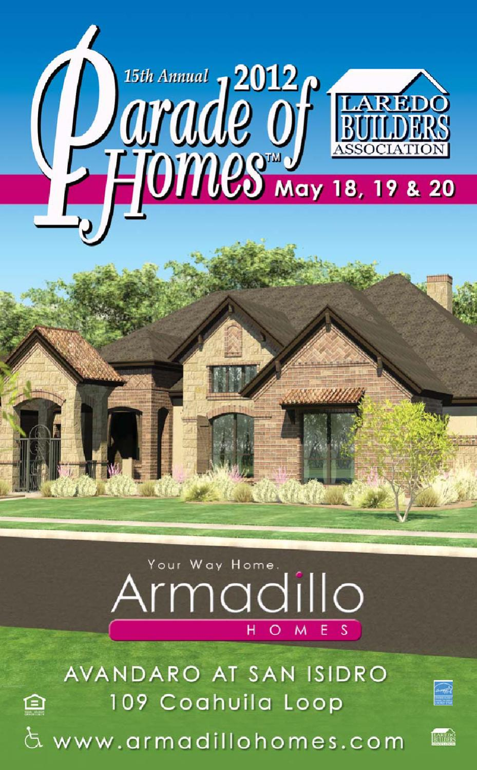 2012 parade of homes guidebook by laredo builders for Laredo home builders