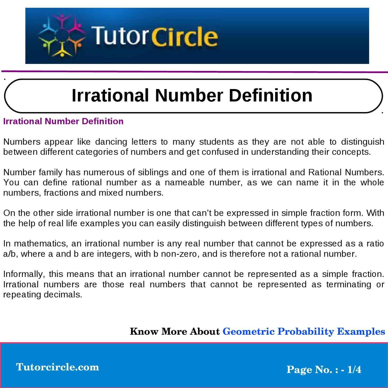 Mixed Number Definition