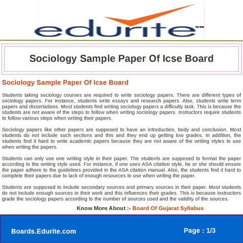 asa style sample paper