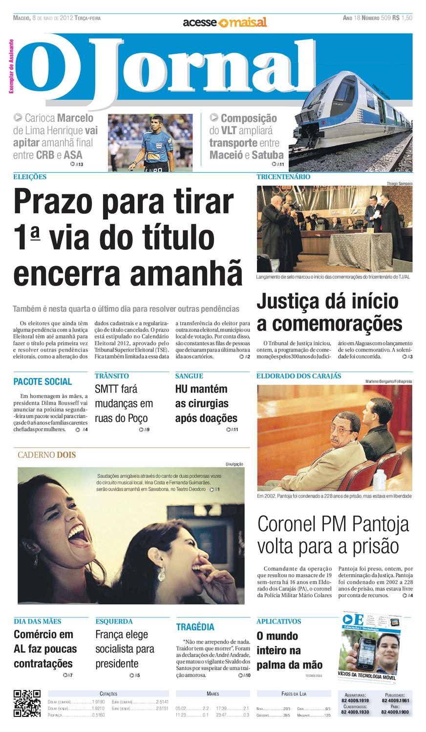 OJORNAL 08 05 2012 by OJORNAL SISTEMA DE COMUNICACAO - issuu dfe7598687bd1