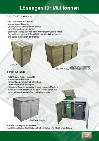 Lösungen Für Mülltonnen lutra_moebelkaiser design - issuu