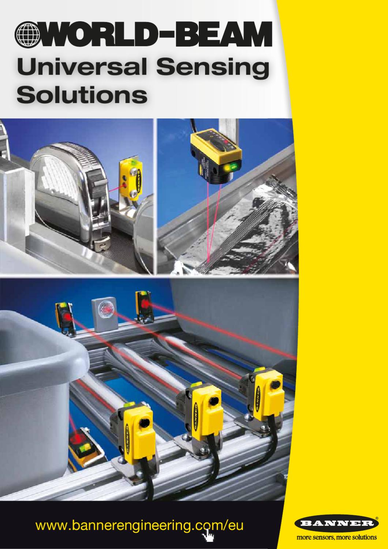 Banner Engineering Q20PLVQ5 WORLD-BEAM Photoelectric Sensor