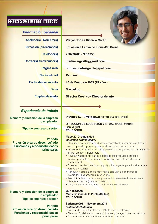 Curriculum Vitae by Ricardo Vargas - issuu
