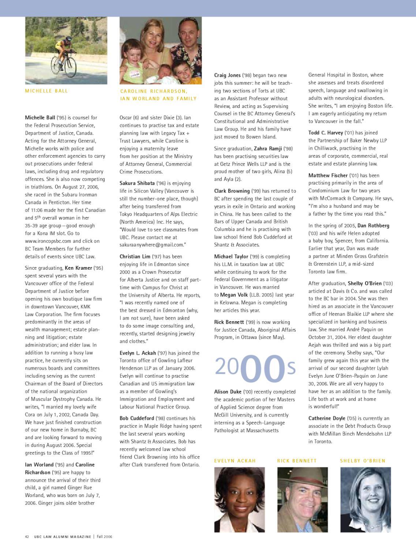 UBC Law Alumni Magazine - Fall 2006 by Peter A  Allard