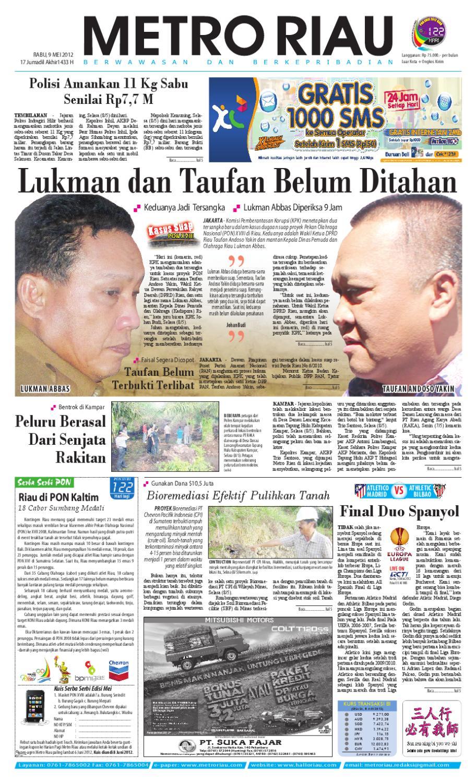Metroriau 09 05 2012 By Harian Pagi Metro Riau Issuu Produk Ukm Bumn Baju Muslim Anak Laki Dannis Nomor 10 Abu