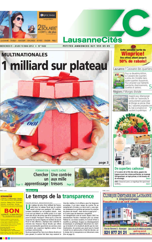 Lausanne Cités du 10.05.2012 by GHI   Lausanne Cités - issuu 48e4c1223a31