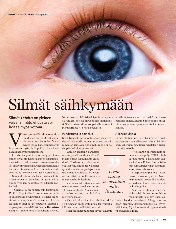 Virusperäinen Silmätulehdus