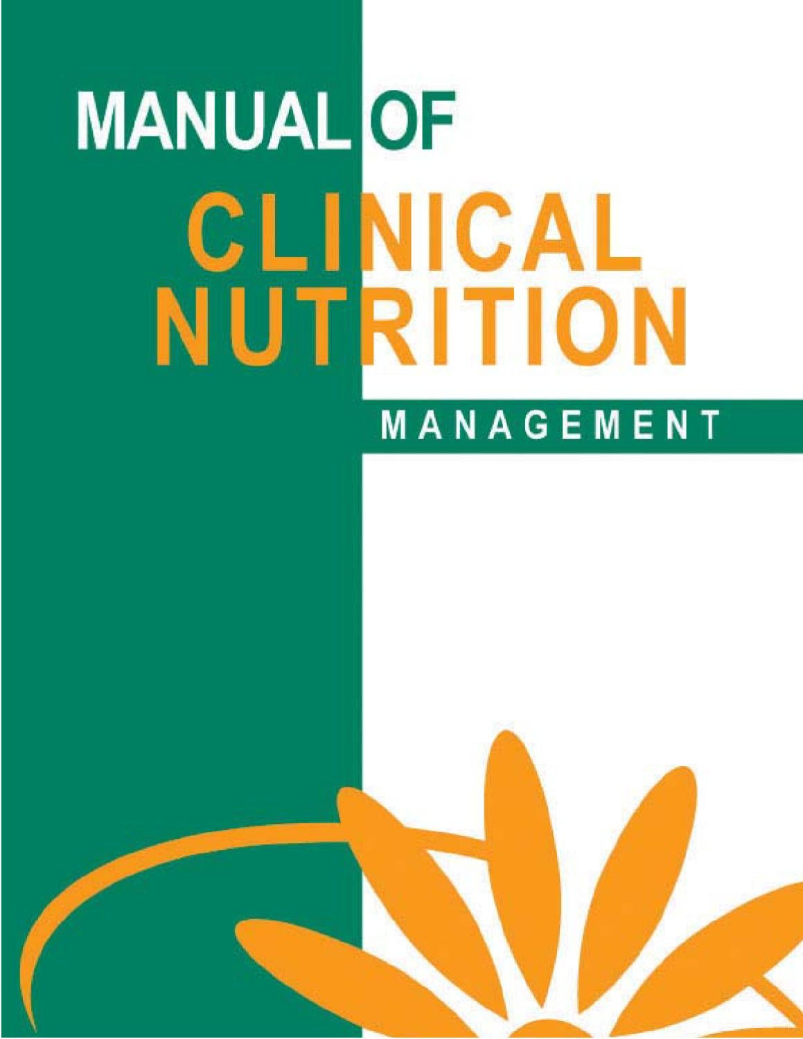 Manual of Clinical Nutrition Management by NOE GONZALEZ - issuu