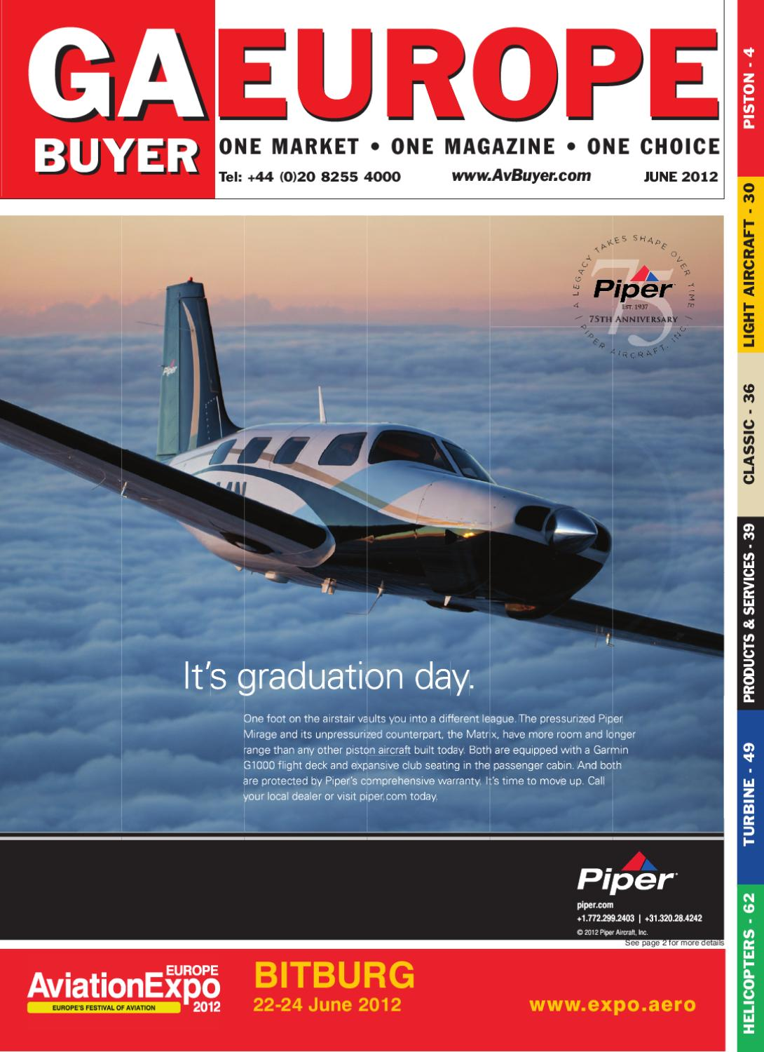 Gabuyer Europe Magazine June 12 By Avbuyer Ltd Issuu Piper Seneca Wiring Diagram