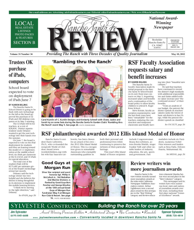 6577929a66 5.10.12 Rancho Santa Fe Review by MainStreet Media - issuu
