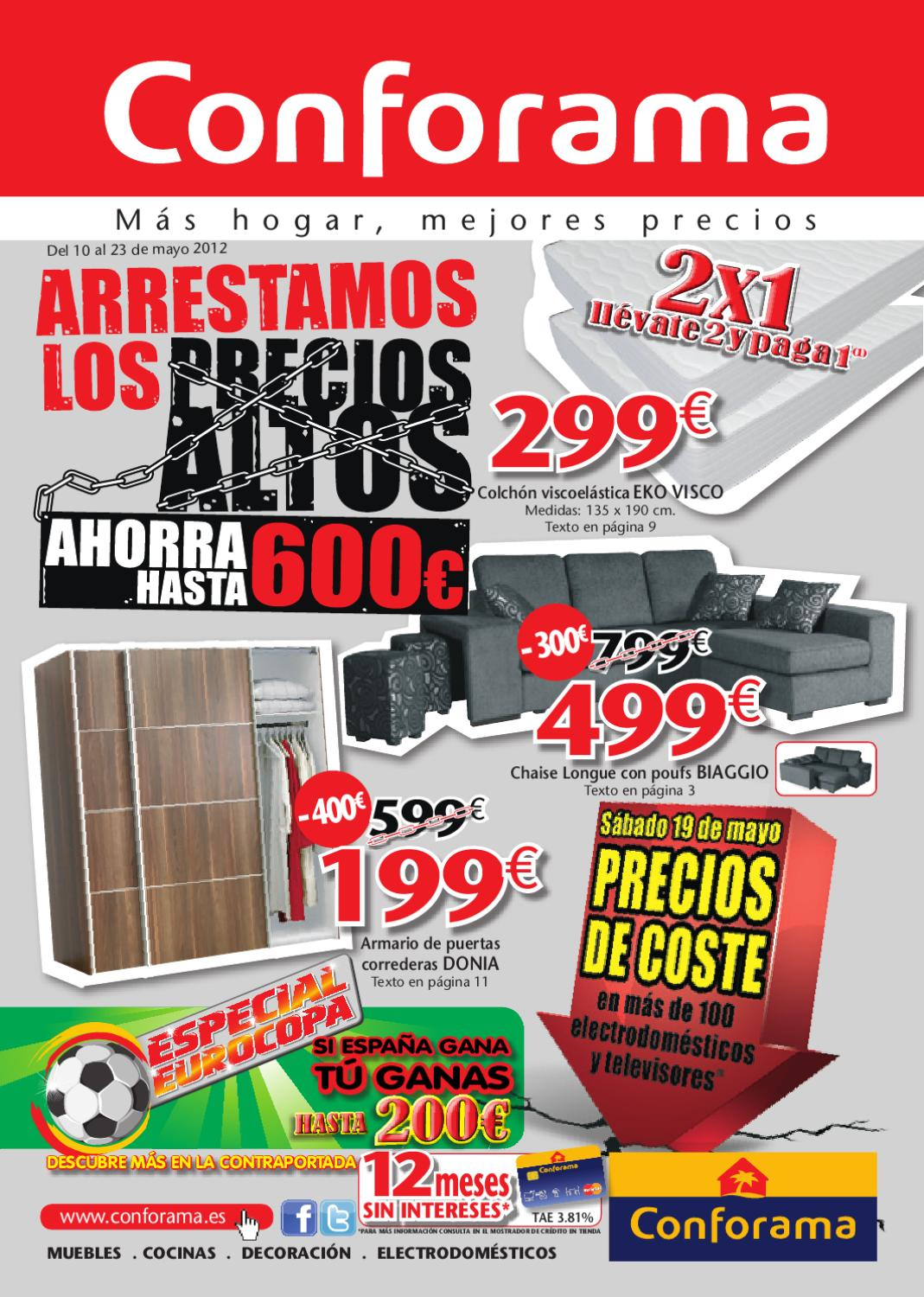 Conforama catalogo folleto hogar 23 mayo 2012 by - Catalogo conforama madrid ...