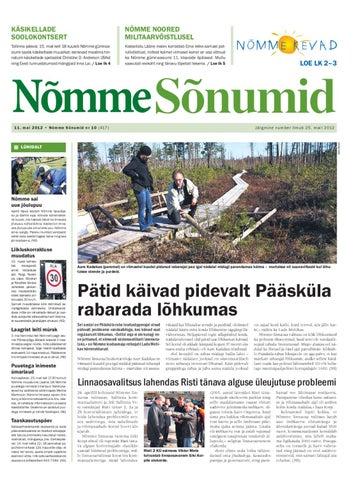 8baf26cca85 Nõmme Sõnumid nr 10 (2012) by Nõmme linnaosa - issuu