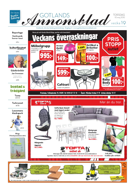 b9f6829e694 Gotlands Annonsblad 2012 v.19 by Svenska Civildatalogerna AB - issuu