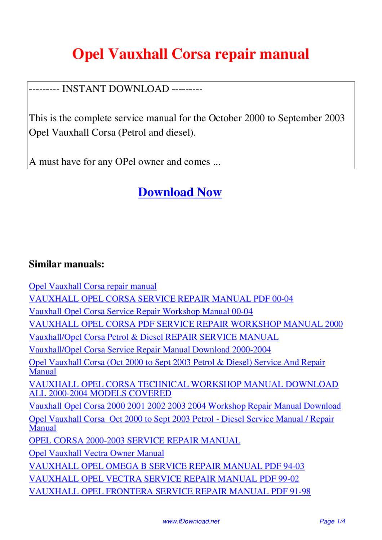 ... Array - opel vauxhall corsa repair manual by giler kong issuu rh issuu  ...
