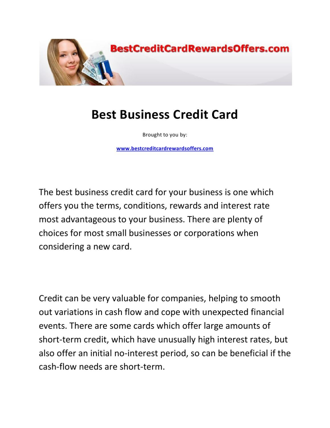 Best business credit card by paul jackson issuu magicingreecefo Choice Image