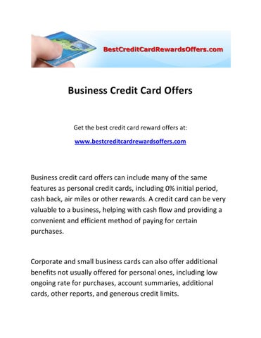 Business credit card offers by carol ruiz issuu page 1 business credit card offers reheart Choice Image