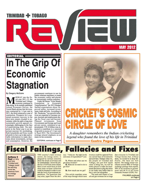 Trinidad & Tobago Review, May 2012 Edition by Sunity Maharaj - issuu