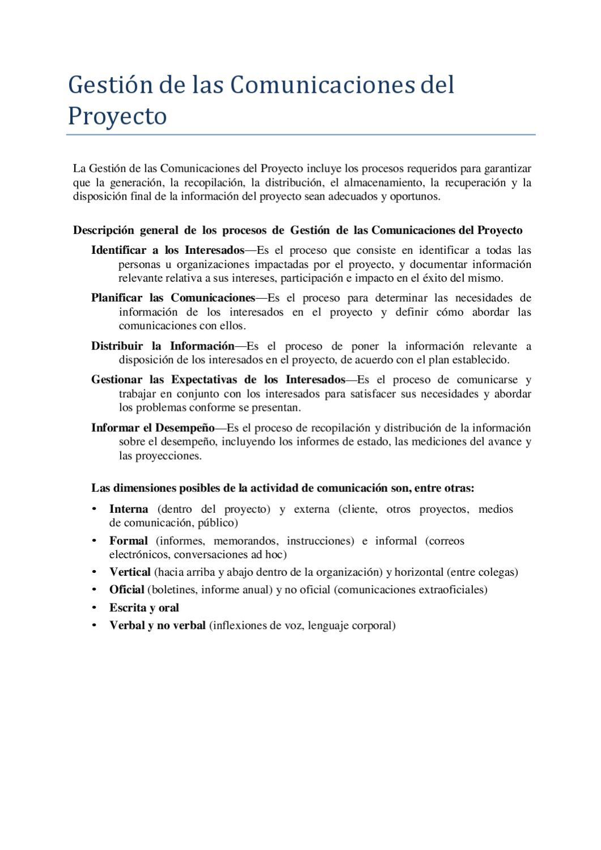 Gestion Proyectos Comunicación by Sergio Tobon - issuu