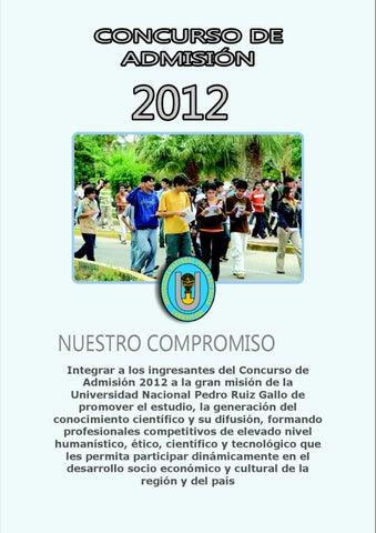 PROSPECTO UNIVERSIDAD PEDRO RUIZ GALLO 2012 by james pérez rosales ...