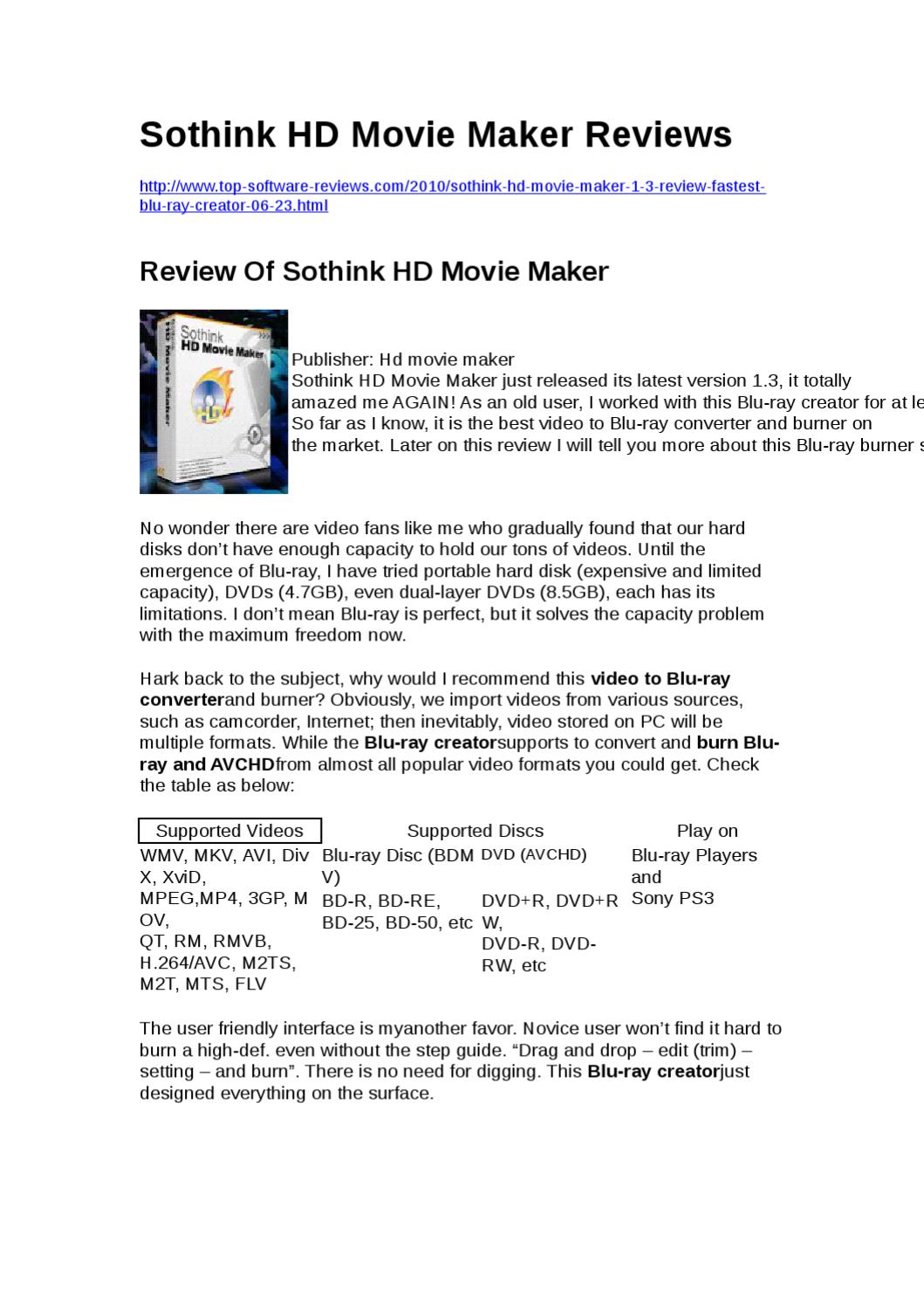 Review Of Sothink HD Movie Maker by Yongqiang Xie - issuu